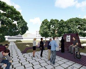 """Studenții de la Arhitectură au câștigat un proiect de 40.000 de lei pentru amenajarea unui spațiu verde în Campusul """"Tudor Vladimirescu"""""""