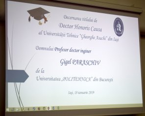 Universitatea Tehnică a oferit titlul de Doctor Honoris Causa celui mai longeviv secretar de stat al Ministerului Educației, profesorul universitar Gigel Paraschiv